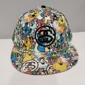 Stussy Hats X New Era Fitted Cap 7 5/8 Printed EUC